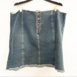 Venezia Jean Skirt Size 28 Frayed Waist